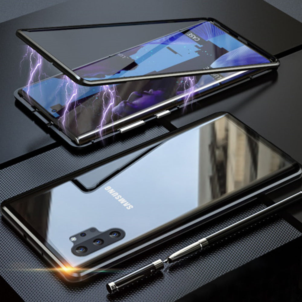 Galaxy Note 10  Electronic Auto-Fit Magnetic Transparent Glass Case