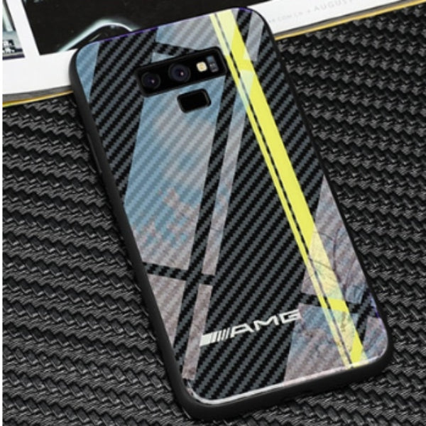 Galaxy Note 9 3D Carbon Fiber Pattern Glass Case