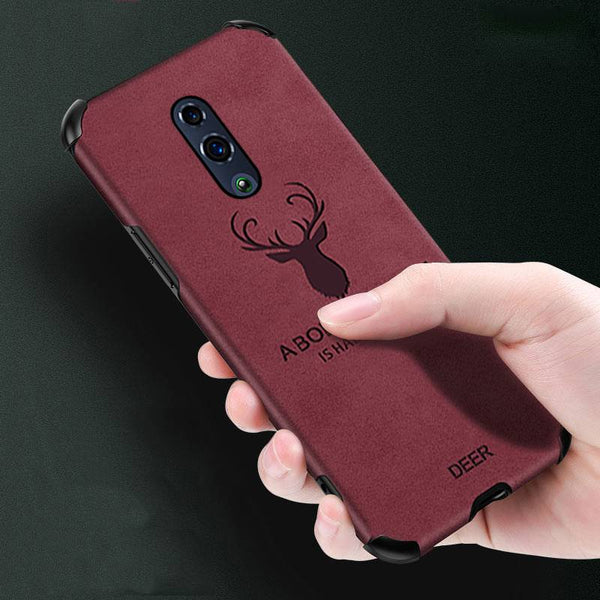 OnePlus 7 Shockproof Deer Leather Texture Case