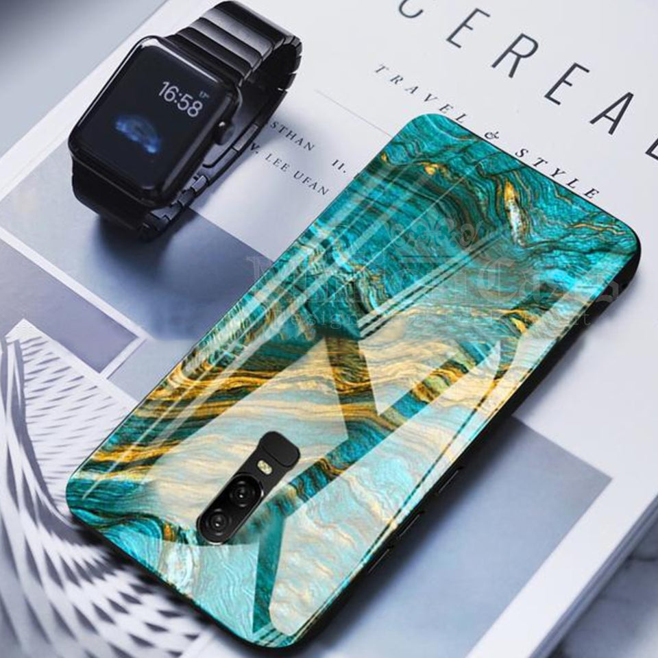 OnePlus 6 Soothing Sea Pattern Marble Glass Back Case