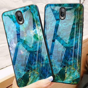 OnePlus 6T Soothing Sea Pattern Marble Glass Back Case