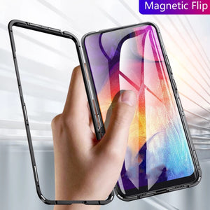 Oneplus 7 Electronic Auto-Fit Magnetic Transparent Glass Case
