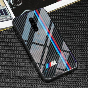 OnePlus 7 Pro 3D Carbon Fiber Pattern Glass Case