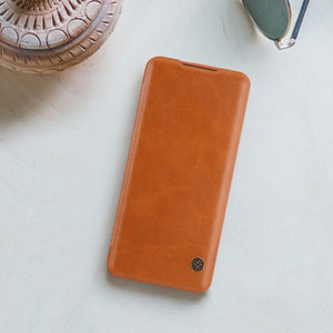 OnePlus 7T Pro Genuine QIN Leather Flip Case