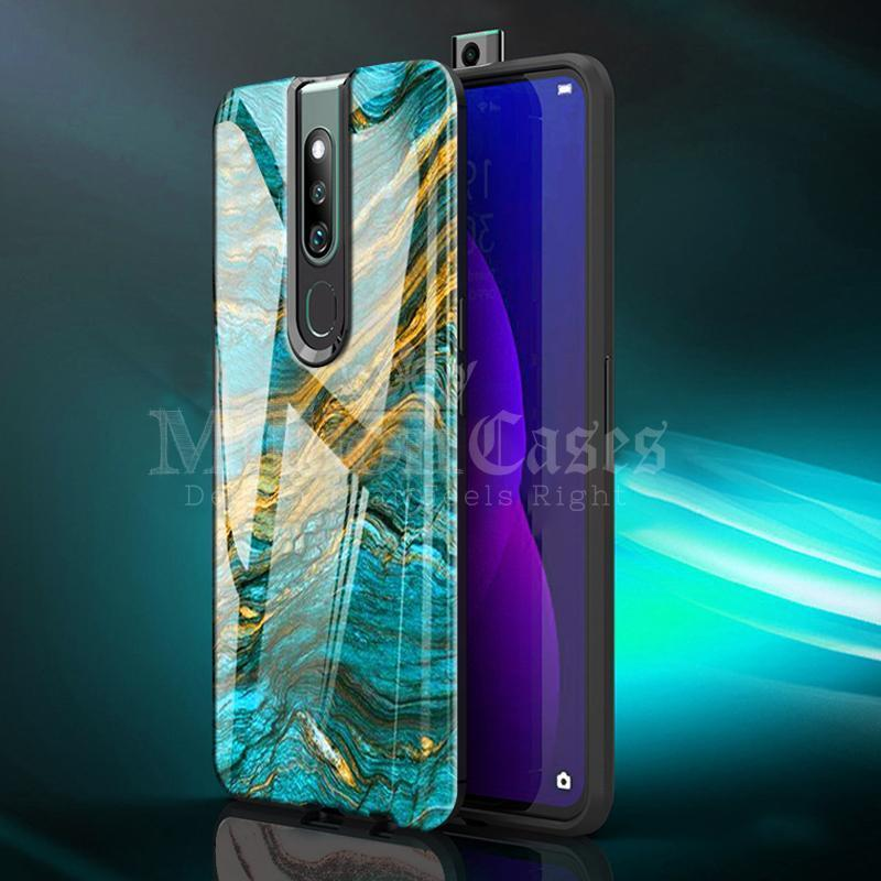 Oppo F11 Pro Soothing Sea Pattern Marble Glass Back Case
