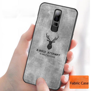 Oppo F11 Pro (3 in 1 Combo) Deer Case + Tempered Glass + Earphones