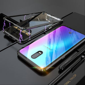 Oppo K3 (3 in 1 Combo) Electronic Magnetic Case + Tempered Glass + Earphones