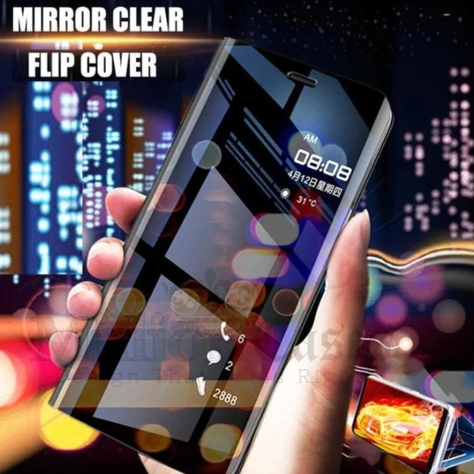 Oppo Realme X2 Mirror Clear View Flip Case [Non Sensor Working]