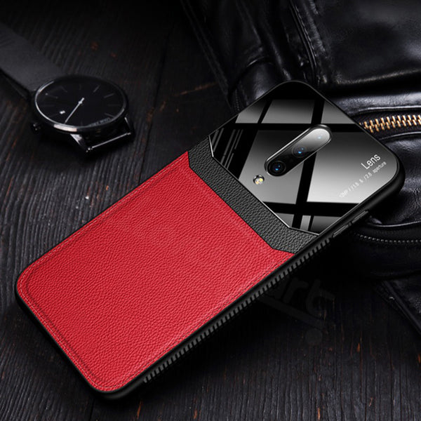 Mi Poco F1 Sleek Slim Leather Glass Case