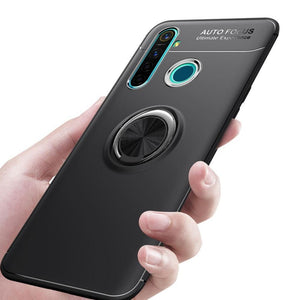 Oppo Realme 5 Pro Metallic Finger Ring Holder Matte Case