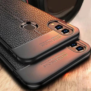 Oppo Realme 3 Pro Auto Focus Leather Texture Case