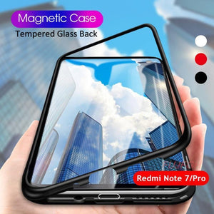 Redmi Note 7 Pro Electronic Auto-Fit Magnetic Transparent Glass Case