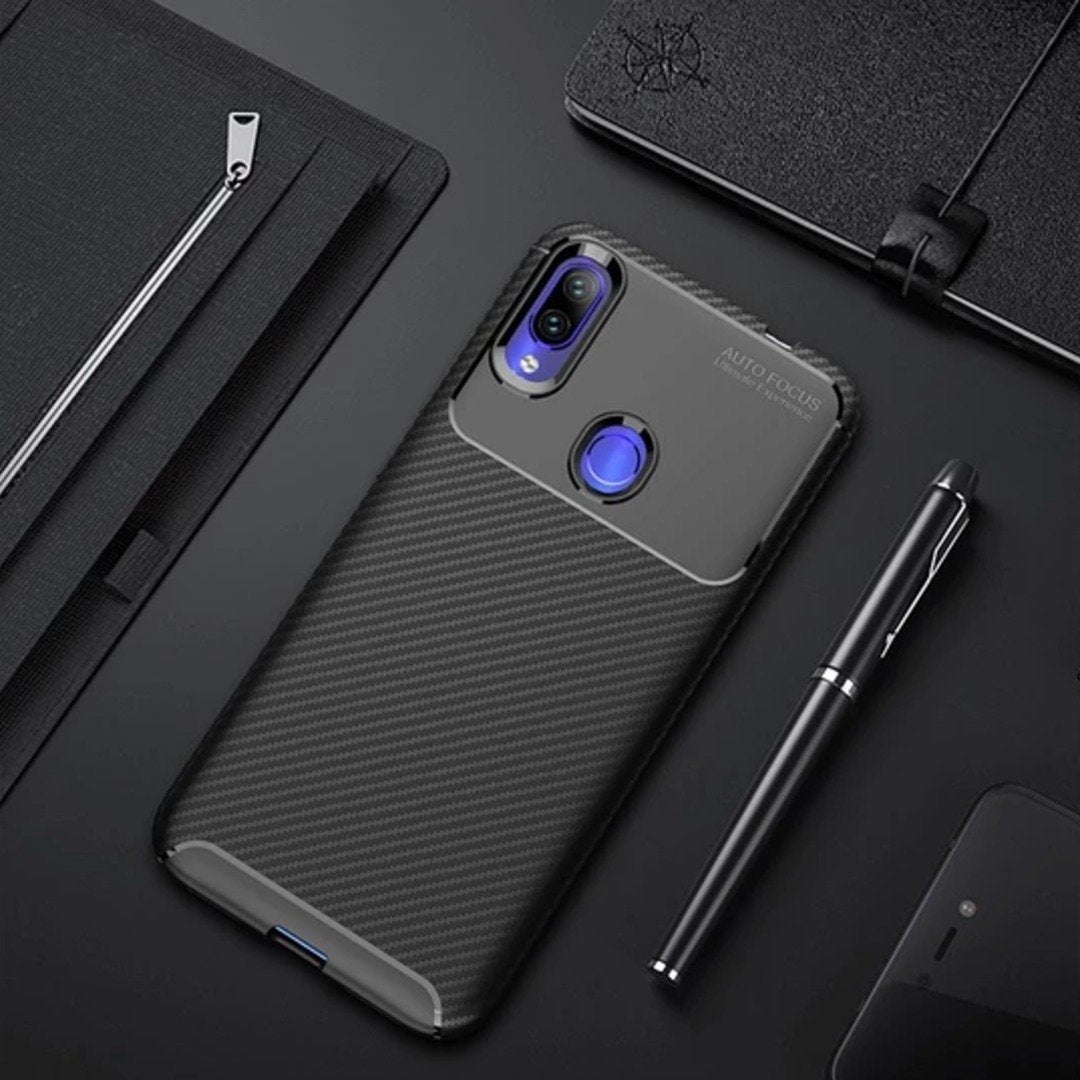 Redmi Note 7S Frosted Carbon Fiber Shockproof Soft Case