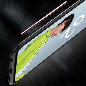 Oppo Reno 2Z Shockproof Transparent Metallic Ring Holder Case