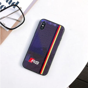 iPhone XS Max 3D Carbon Fiber Pattern Glass Case