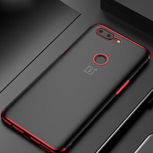 OnePlus 5T Premium Electroplating Silicone Transparent Glitter Case