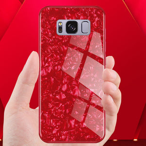 Galaxy S8 Plus Dream Shell Series Textured Marble Case