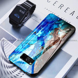 Galaxy S8 Plus Soothing Sea Pattern Marble Glass Back Case