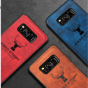Galaxy S8 Deer Pattern Inspirational Soft Case