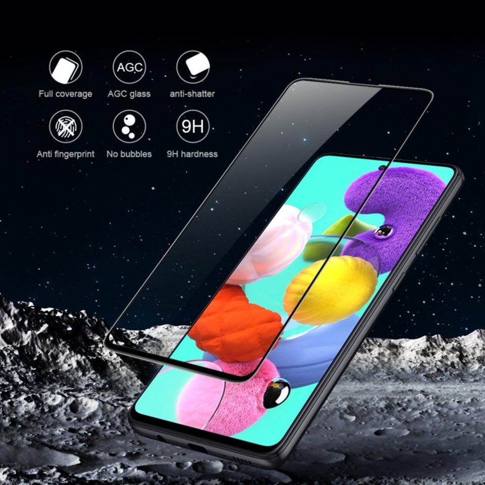 Galaxy A51 Ultra HD Full Coverage Tempered Glass