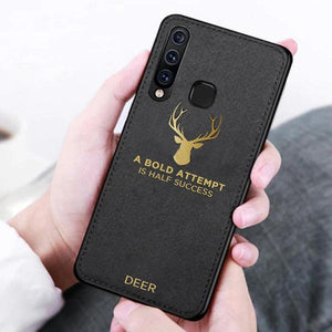 Galaxy M40 Luxury Gold Textured Deer Pattern Soft Case