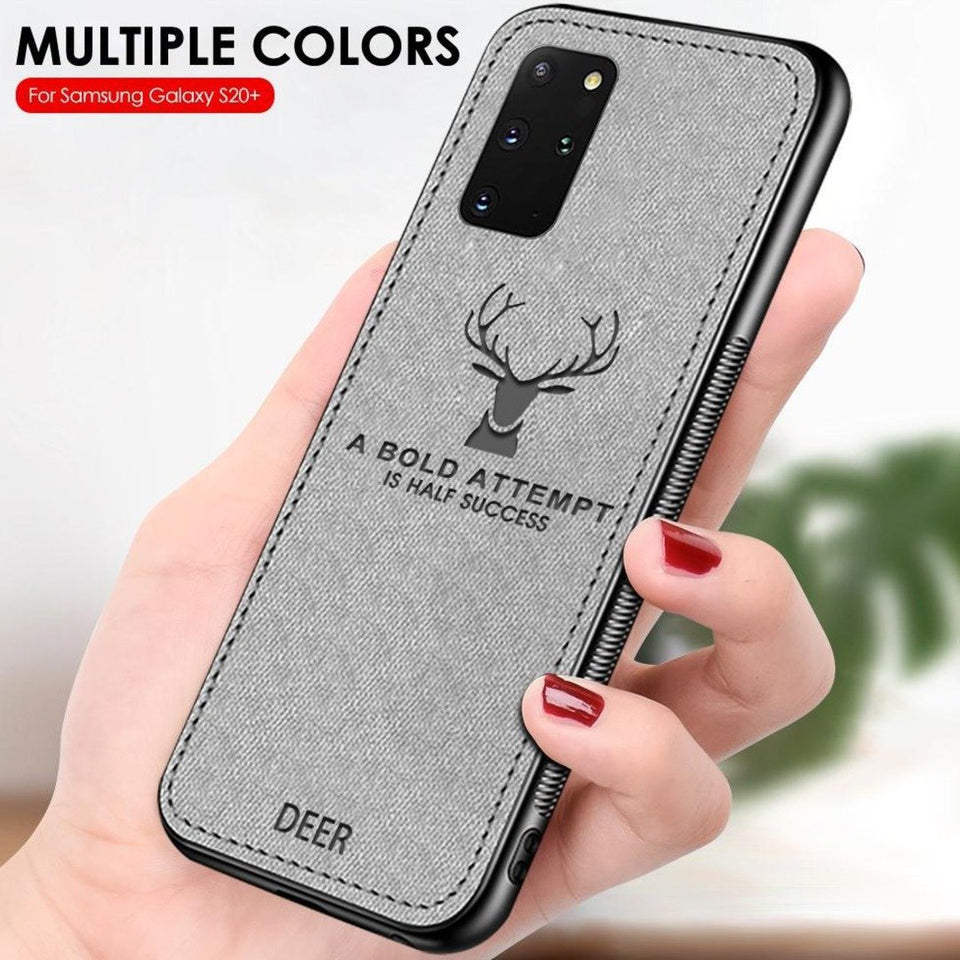 Galaxy S20 Plus Deer Pattern Inspirational Soft Case (3-in-1 Combo)