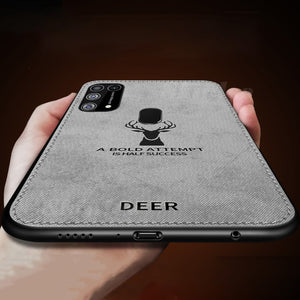 Galaxy M21 Deer Pattern Inspirational Soft Case