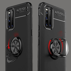 Vivo V19 (2 in 1 Combo) Metallic Ring Holder Case + Earphones