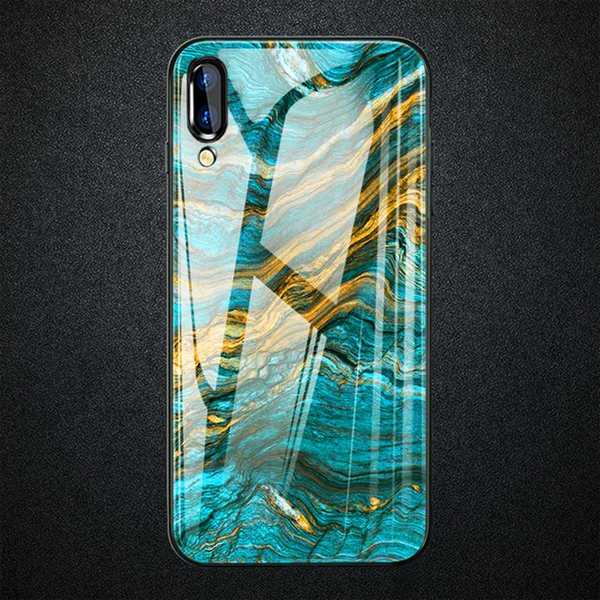 Vivo V11 Pro Soothing Sea Pattern Marble Glass Back Case