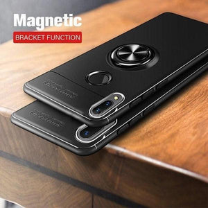 Vivo V11 Metallic Finger Ring Holder Matte Case