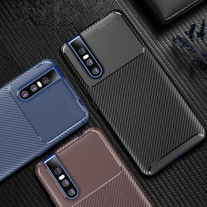 Vivo V15 Pro Frosted Carbon Fiber Shockproof Soft Case