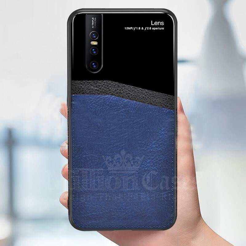 Vivo V15 Pro Sleek Slim Leather Glass Case