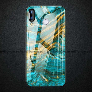 Vivo V9 Soothing Sea Pattern Marble Glass Back Case