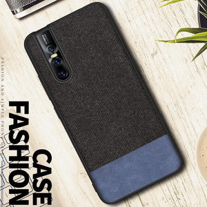 Vivo V15 Pro Two-tone Leather Textured Matte Case