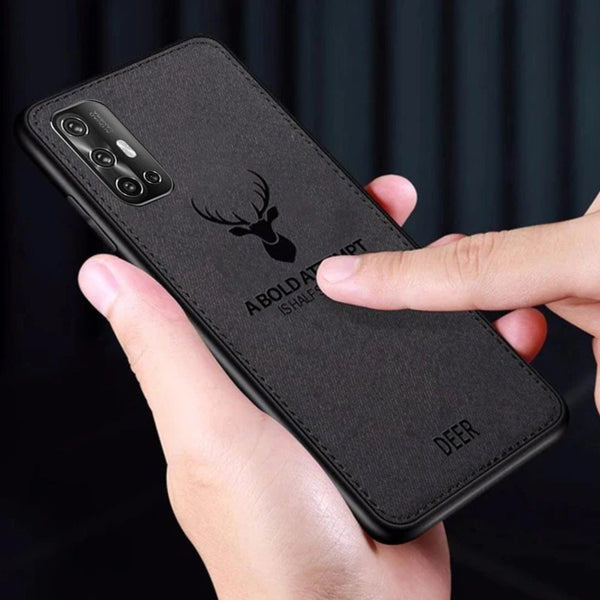Vivo V17  (3 in 1 Combo) Deer Case + Tempered Glass + Earphones