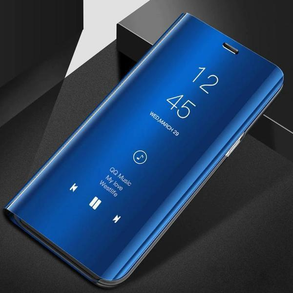 OnePlus 8 Pro (3 in 1 Combo) Mirror Clear Flip Case + Tempered Glass + Earphones [Non Sensor]