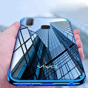 Vivo Z1 Pro Electroplating Silicone Transparent Glitter Case