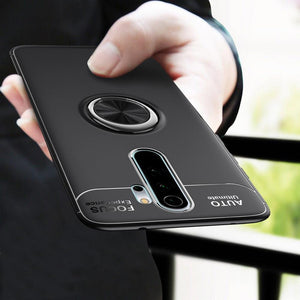 Redmi Note 8 Pro Metallic Finger Ring Holder Matte Case