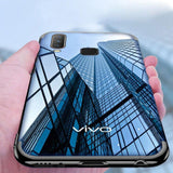 Vivo Y12 Electroplating Silicone Transparent Glitter Case