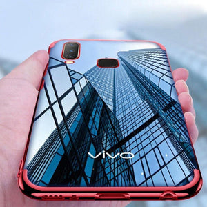 Vivo Y15 Electroplating Silicone Transparent Glitter Case