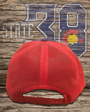 Red and Blue Snapback Hat