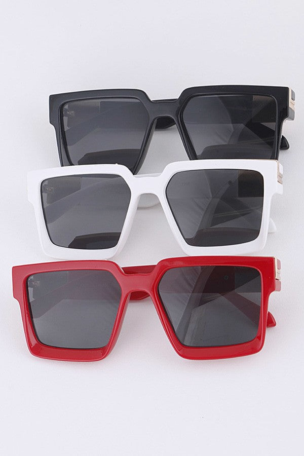 Square Frame Iconic Sunglasses Set  by Glitz and Glam by Gianna