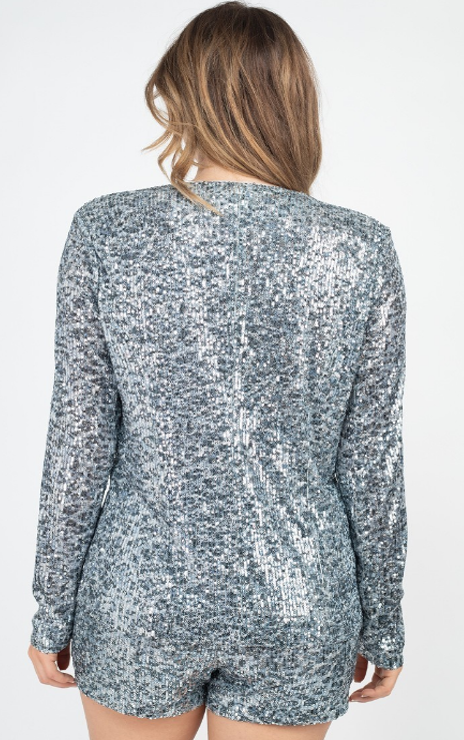 A featuring a leopard print with all over sequins