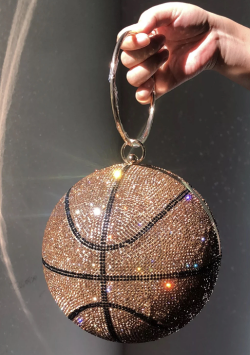 Full Rhinestone Basketball Shoulder Bag
