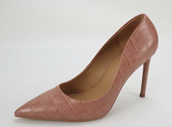 Nude Croc Pumps