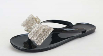 Bowtie Sandals - Black