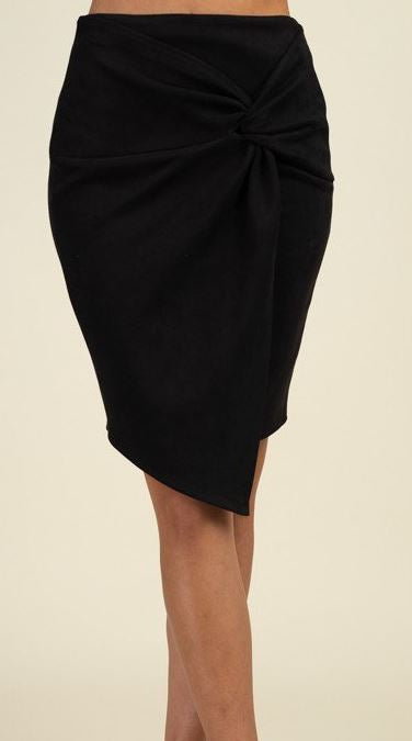 Black Faux Suede Skirt