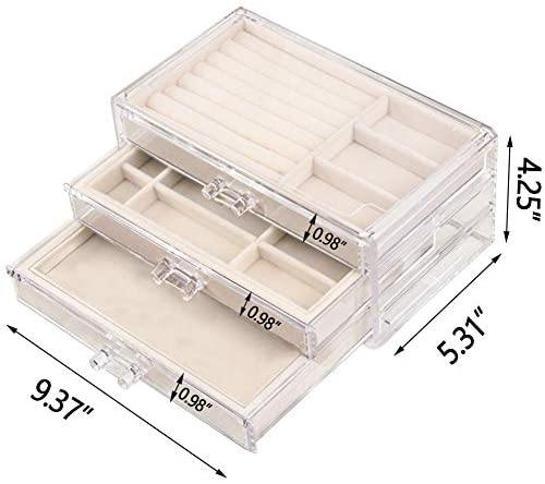 Jewelry Box Organizer 3 Drawers