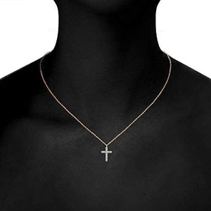 14K Gold Plated Cross Necklace