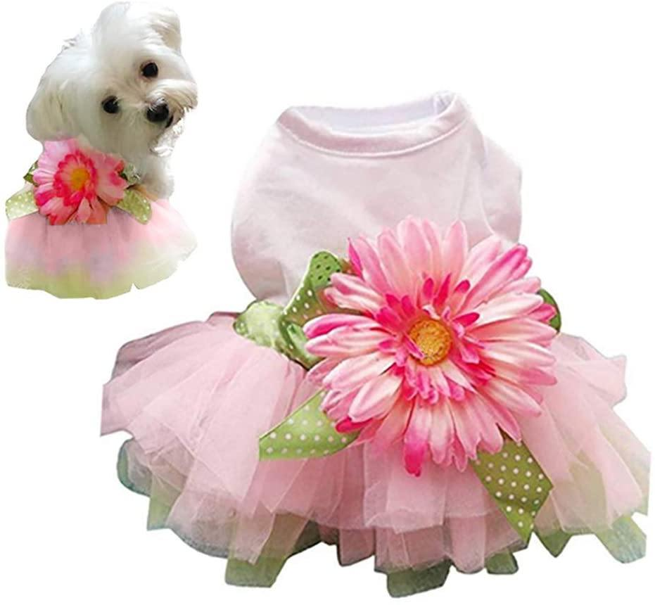 Daisy Flower Tutu Dog Dress